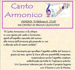 Canto Armonico DimmiComeDanzi